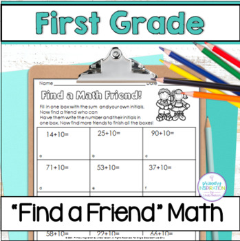 First Grade Math Find a Friend