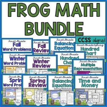 First Grade Math {Frog Math} MEGA BUNDLE!