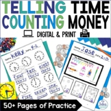 Telling Time Counting Money First Grade Math Time and Money