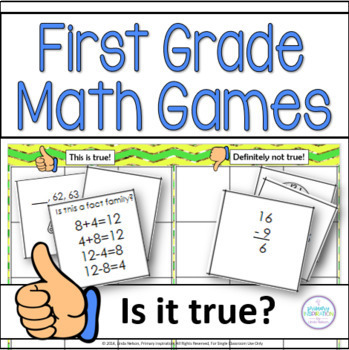 First Grade Math Games Thumbs Up or Thumbs Down?