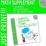 First Grade Math : Homework UNIT 7