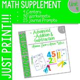 First Grade Math : Homework UNIT 9