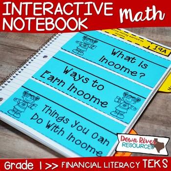 First Grade Math Interactive Notebook: Personal Financial