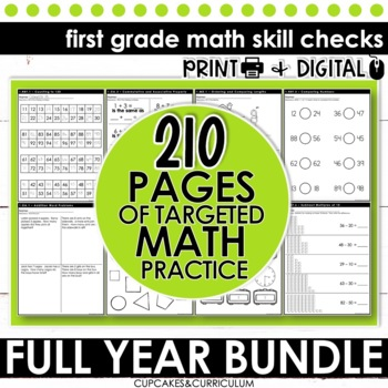First Grade Math - MEGA BUNDLE - Print and Go