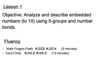 First Grade Math Module 1 Topic A Common Core Smartboard Lessons