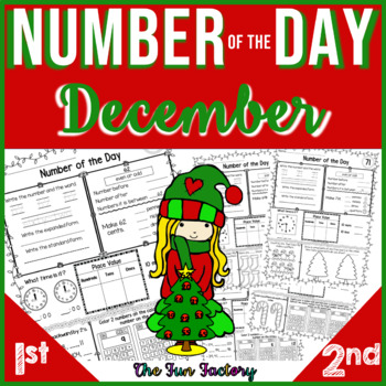 First Grade Math, Number of the Day~Common Core & TEKS~Dec