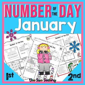 First Grade Math, Number of the Day~Common Core & TEKS~Jan