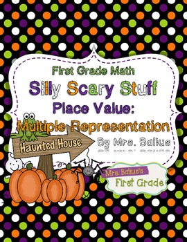 First Grade Math Place Value {Silly Scary Stuff} Multiple