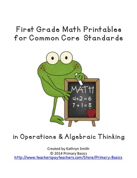 First Grade Common Core Operations and Algebraic Thinking