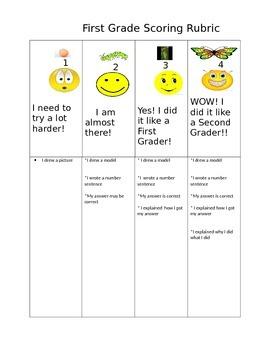 First Grade Math Problem  Rubric