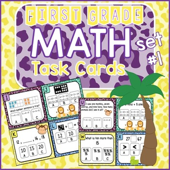 Math Task Cards - Addition,Subtraction,Place Value, Base T