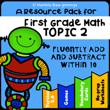 First Grade Math Topic 2, Add and Subtract Within 10