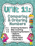 First Grade Math Unit 11 Comparing Numbers Skip Counting a