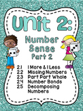 First Grade Math Unit 2: Number Sense, Part Part Whole, Nu