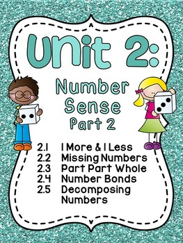 First Grade Math Unit 2: Number Sense, Part Part Whole, Nu