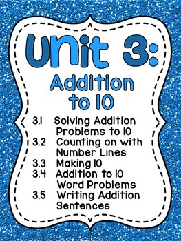 First Grade Math Unit 3 Addition to 10