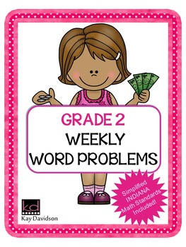 Second Grade Math: Weekly Word Problems and INDIANA Math S