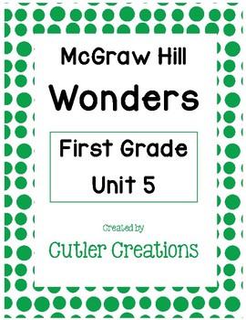 First Grade McGraw Hill Wonders Unit 5 Homework