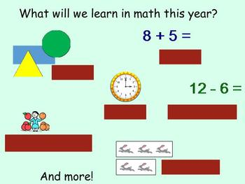 First Grade Mimio Math Introduction