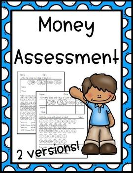 First Grade Money Test