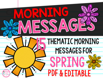 First Grade Morning Message Center {15 Spring Themes}