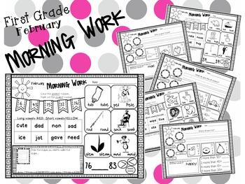 First Grade Morning Work- February