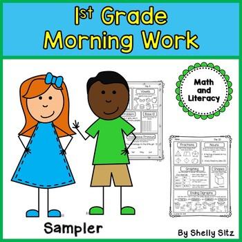 First Grade Morning Work Freebie