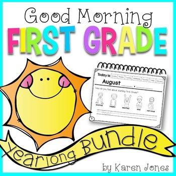 First Grade Morning Work {YEARLONG GROWING BUNDLE}