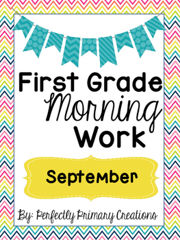 First Grade Morning Work September!