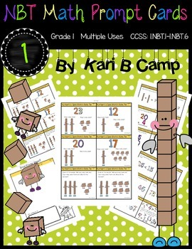 First Grade NBT Math Prompt Cards {Common Core Aligned}