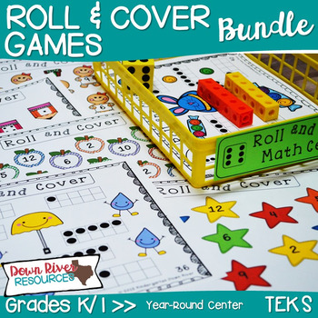First Grade NEW Math TEKS 1.2A & 1.2C: 36 Roll and Cover G