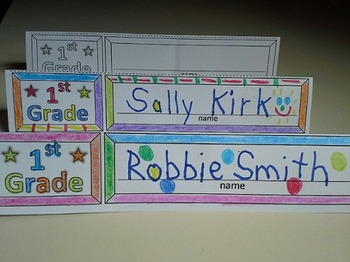 First Grade Name Cards Foldable and Standable