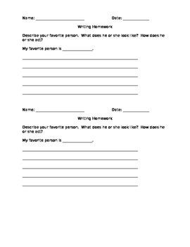 First Grade Narrative Paragraph Writing Worksheet