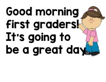 First Grade Narrative Schedule LARGE