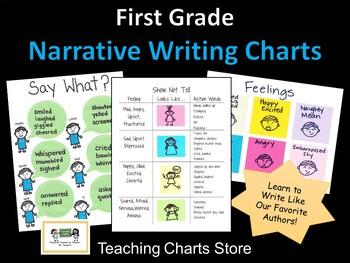 First Grade Narrative Writing Authors as Mentors Charts (L