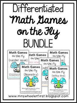 First Grade Number Math Games Growing BUNDLE