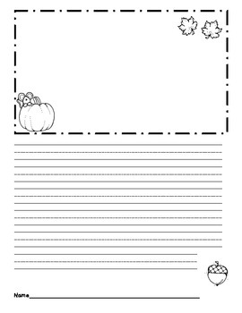 First Grade October Fall Writing Paper