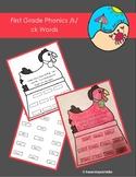 First Grade Phonics Digraph /k/ck Words