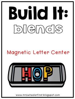First Grade Phonics: Magnetic Letter Blend Mats