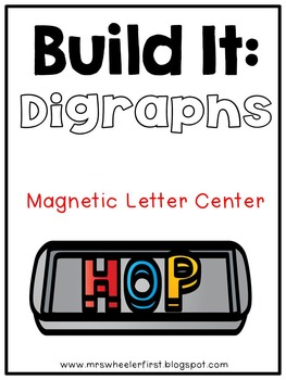 First Grade Phonics: Magnetic Letter Digraphs Mats
