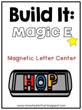 First Grade Phonics: Magnetic Letter Magic e Mats