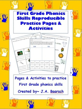 First Grade Phonics Skills Reproducible Practice Pages & A