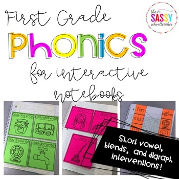 Phonics Intervention for Interactive Notebooks (Short Vowe