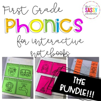 Phonics Intervention for Interactive Notebooks (CVCE and S