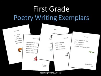 First Grade Poetry Writing Exemplars