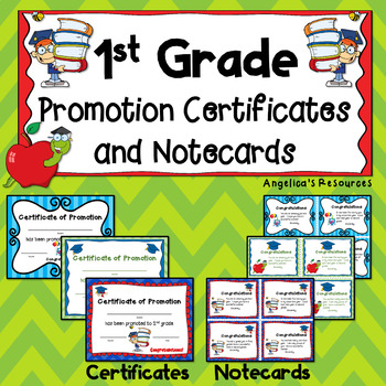 End of the Year Awards: 1st Grade Promotion Certificates a