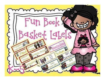 Reading Book Basket Labels for K-5