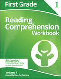 First Grade Reading Comprehension Workbook - Volume 1 (50