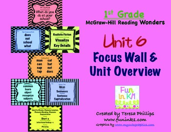 First Grade Reading Focus Wall supports Unit 6 McGraw Hill