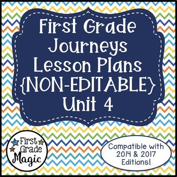 Journeys Lesson Plans First Grade Unit 4